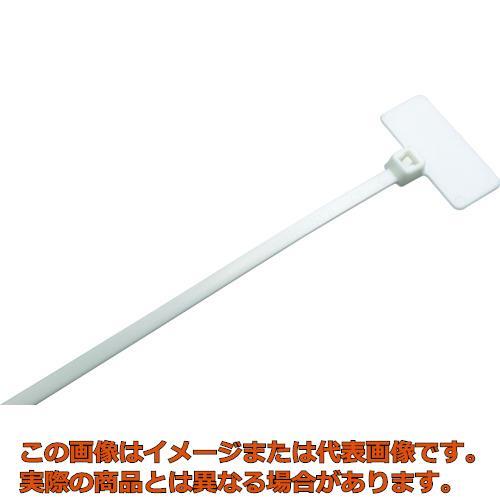 パンドウイット 旗型タイプナイロン結束バンド 難燃性白 (1000本入) PLF1MM69