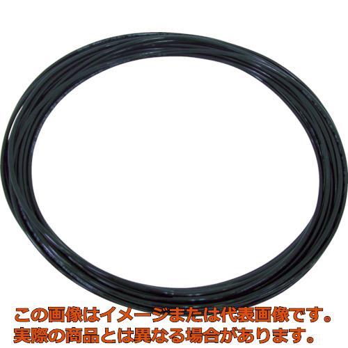 チヨダ TPタッチチューブ 12mm/100m 黒 TP12X8.0100 BK