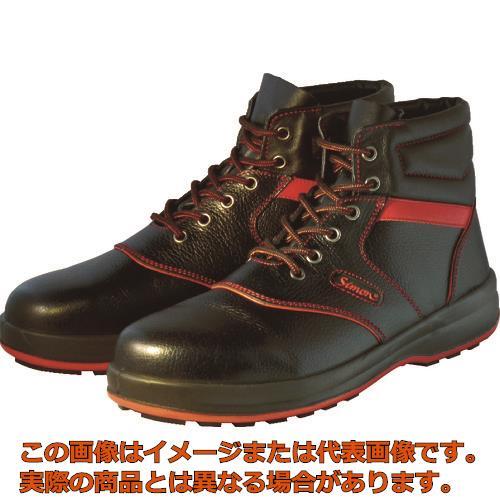 シモン 安全靴 編上靴 SL22-R黒/赤 27.5cm SL22R27.5