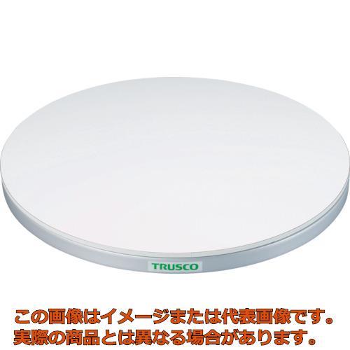 TRUSCO 回転台 50Kg型 Φ400 ポリ化粧天板 TC4005W