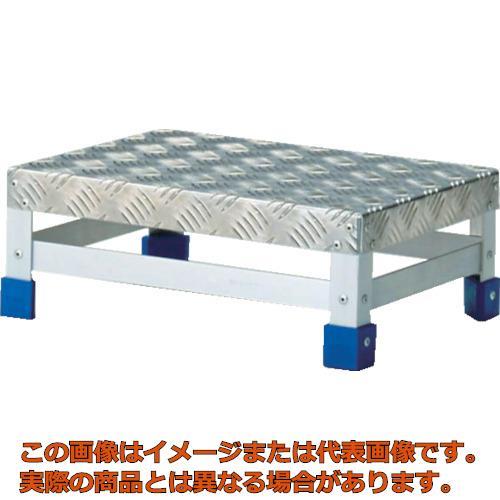 【代引き不可・配送日時指定不可】 TRUSCO ステップ アルミ製・縞板タイプ 600X400XH150 TFS1564