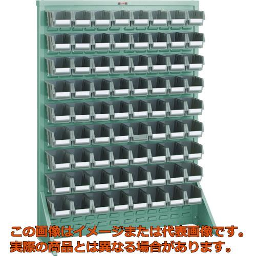 【代引き不可・配送日時指定不可】TRUSCO パネルコンテナラック 床置型 コンテナ小X72 緑 T1272N GN