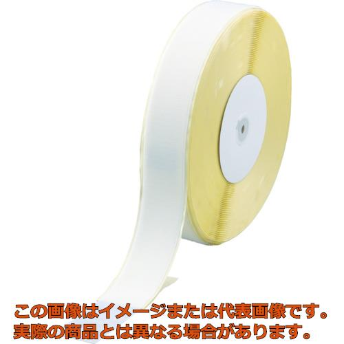 TRUSCO マジックテープ 糊付A側 幅50mmX長さ25m 白 TMAN5025W