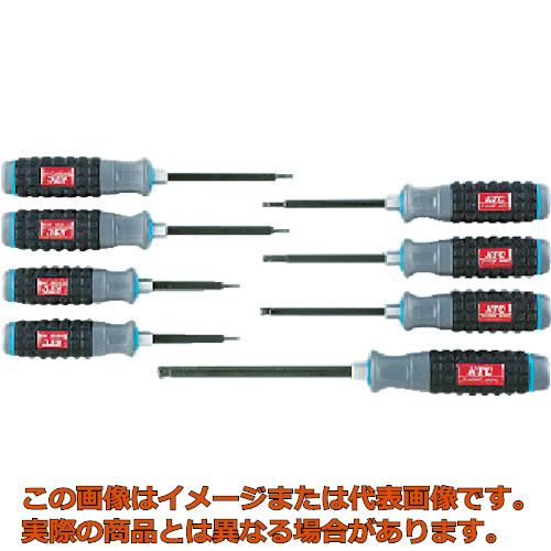 KTC 樹脂柄ボールポイントヘキサゴンドライバセット[8本組] TD1HBP8