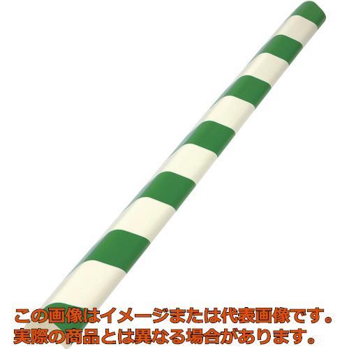 TRUSCO 安心クッションL字型大 緑・白 10本入り T10AC101