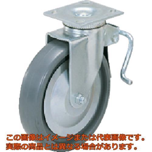 スガツネ工業 重量用キャスター径203自在ブレーキ付SE(200ー012ー453 SUGT408BPSE