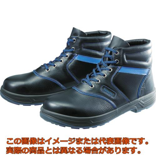 シモン 安全靴 編上靴 SL22-BL黒/ブルー 26.0cm SL22BL26.0