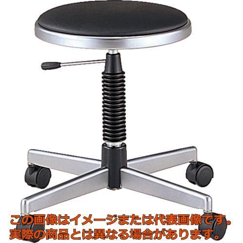 ノーリツ 導電作業チェア 導電ビニールレザー 黒 TDE24 BK