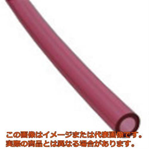 チヨダ TEタッチチューブ 10mm/100m クリアレッド TE10100CR
