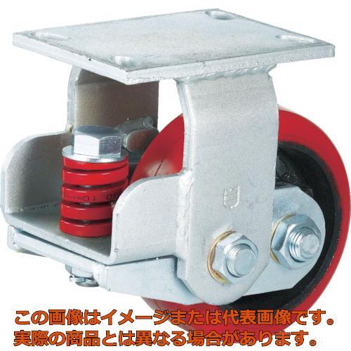 SAMSONG スプリング機能付きキャスター 固定150mm 耐荷重670kg TP7160RPCIBB
