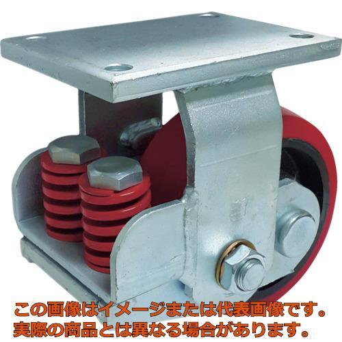 SAMSONG スプリング機能付きキャスター 固定200mm 耐荷重1100kg TP7581RPCIBB
