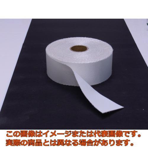 TRUSCO ノンセラクロステープ 0.8X100mm 20m 片面樹脂加工 TACT08100