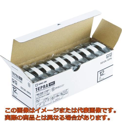 キングジム 「テプラ」PROテープエコパック(10個入り)白 SS18K10PN