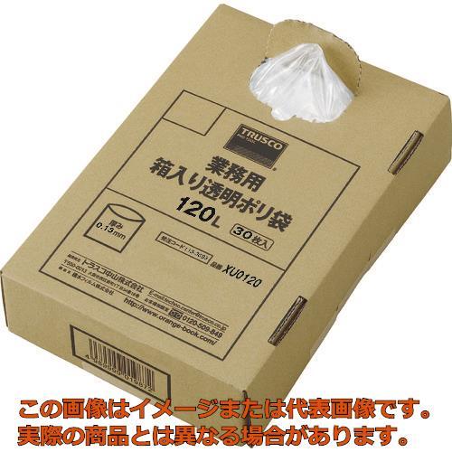 TRUSCO まとめ買い 業務用ポリ袋 透明・箱入 0.15×120L  (30枚入) XU0120