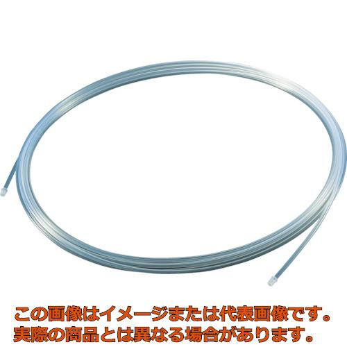 TRUSCO フッ素樹脂チューブ 内径10mmX外径12mm 長さ20m TPFA1220
