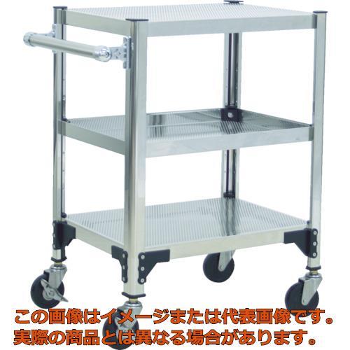 TRUSCO ステンレス製導電性ワゴン 600X450X829 パンチング棚板 TT3813P