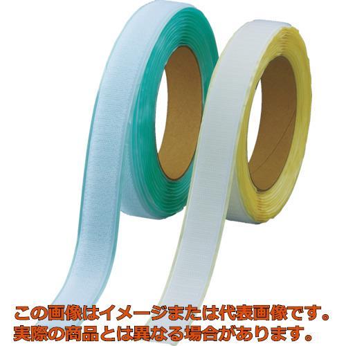 TRUSCO マジックテープ 弱粘着タイプ 100mmX5m 白(1巻=1セット) TPD1005MTSW