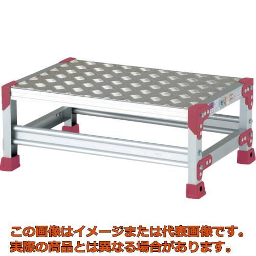 【代引き不可・配送日時指定不可】 ピカ 作業台 ZG-P型縞板仕様 1段 幅60cm高さ25cm ZG1625P