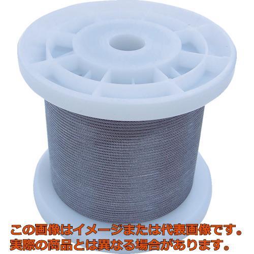 ニッサチェイン 透明コーティングワイヤロープ 1.2mm×100m TSY12VCLR