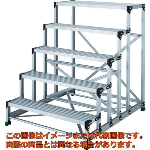 【代引き不可・配送時間指定不可】TRUSCO アルミ合金製作業台 5段 高さ1.25m 天板1000×400 TSF510125