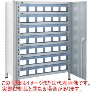 TRUSCO 軽量棚扉付 875X450X1200樹脂引出透明小X42 ネオグレー 43XT808C7 NG