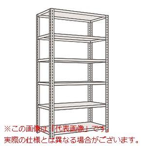 軽量開放型棚ボルトレス(100kg/段・高さ2400mm・6段タイプ) KF3326【配送日時指定不可・個人宅不可】