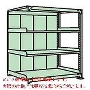 中軽量棚PML型パネル付(250kg/段・連結・高さ1200mm・4段タイプ) PMLG-8124R【配送日時指定不可・個人宅不可】