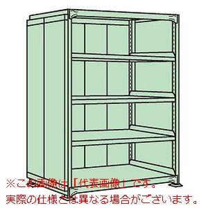 中軽量棚PML型パネル付(250kg/段・単体・高さ1800mm・5段タイプ) PMLG-1145【配送日時指定不可・個人宅不可】