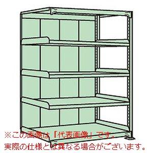 中軽量棚PML型パネル付(250kg/段・連結・高さ2100mm・5段タイプ) PMLG-2125R【配送日時指定不可・個人宅不可】