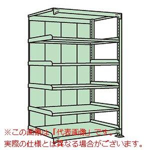 中軽量棚PML型パネル付(250kg/段・連結・高さ2100mm・6段タイプ) PMLG-2726R【配送日時指定不可・個人宅不可】
