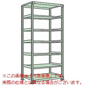 ラークラック(150kg/段・単体・高さ2400mm・7段タイプ) RL-3527【配送日時指定不可・個人宅不可】