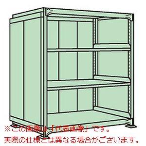 ラークラックパネル付(150kg/段・単体・高さ1500mm・4段タイプ) PRLG-9724【配送日時指定不可・個人宅不可】