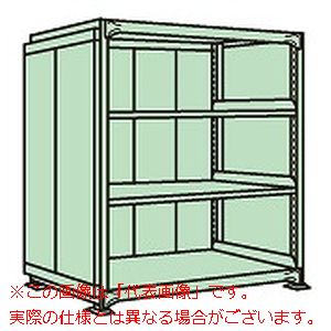 中量棚PB型パネル付(500kg/段・単体・高さ1200mm・4段タイプ) PBG-8164【配送日時指定不可・個人宅不可】