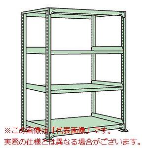 中軽量棚ML型(250kg/段・単体・高さ1500mm・4段タイプ) ML-9324【配送日時指定不可・個人宅不可】