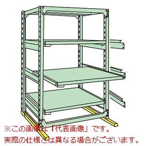 中量スライドラック(高さ2100mm・4段:スライド3段・単体) MSR2112L04T【配送日時指定不可・個人宅不可】