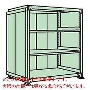 中量棚PB型パネル付(500kg/段・単体・高さ1500mm・4段タイプ) PBG-9154【配送日時指定不可・個人宅不可】