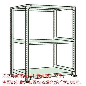中軽量棚MLW型(250kg/段・単体・高さ1500mm・3段タイプ) MLW9553【配送日時指定不可・個人宅不可】