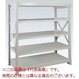 重量棚NR型(1000kg/段・単体・高さ1810mm・5段タイプ) NR-1765【配送日時指定不可・個人宅不可】