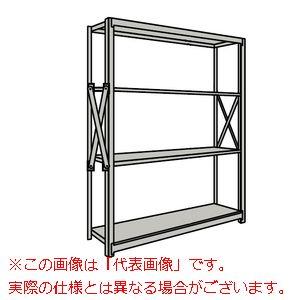重量棚NR型(1000kg/段・単体・高さ2410mm・4段タイプ) NR-3364【配送日時指定不可・個人宅不可】