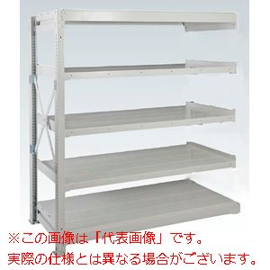 重量棚NR型(1000kg/段・連結・高さ2410mm・5段タイプ) NR-3745R【配送日時指定不可・個人宅不可】
