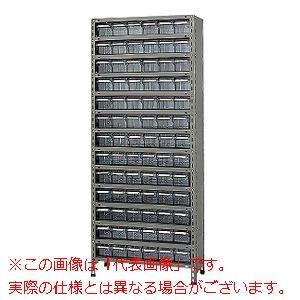 物品棚LEK型樹脂ボックス(100kg/段・高さ2100mm・14段タイプ) LEK2114-78T【配送日時指定不可・個人宅不可】