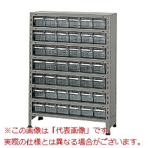 物品棚LEK型樹脂ボックス(100kg/段・高さ1200mm・8段タイプ) LEK8118-42T【配送日時指定不可・個人宅不可】