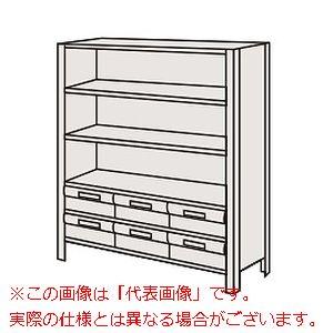 物品棚LEK型樹脂ボックス(100kg/段・高さ1200mm・6段タイプ) LEK8116-6T【配送日時指定不可・個人宅不可】
