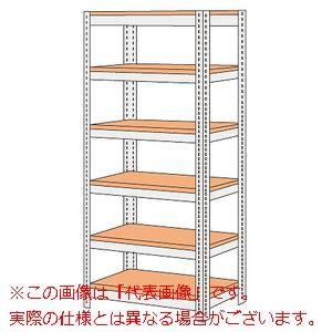 ボード棚(ボルト止めタイプ)(200kg/段・高さ2100mm・6段タイプ) NBRW-2166【配送日時指定不可・個人宅不可】