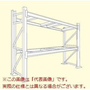 パレットラック(1000タイプ・ビーム2段・高さ2100mm) HG1-5232【配送日時指定不可・個人宅不可】