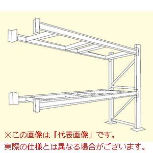 パレットラック(1000タイプ・ビーム2段・高さ2100mm) HG1-5252R【配送日時指定不可・個人宅不可】
