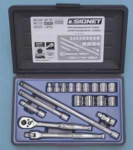 SIGNET 12719 (#812913B)3/8DR 19PC MM ソケットレンチセット
