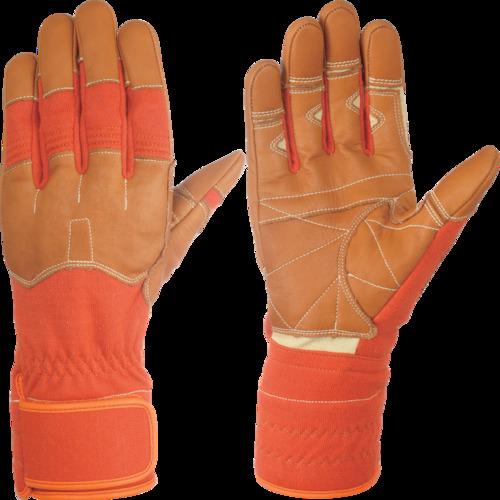 シモン 災害活動用保護手袋(アラミド繊維手袋) KG-160オレンジ KG160-L