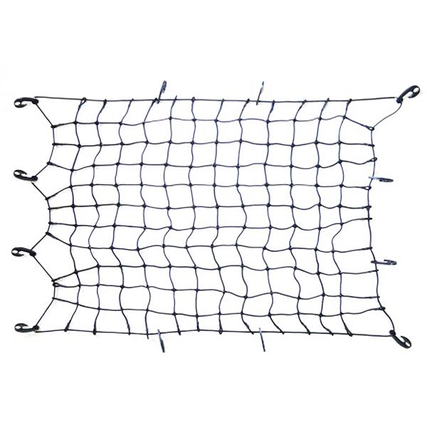 あす楽 スノーボードを立てて積む ラゲッジルーム トランクの荷物押さえとして カーゴネット LWサイズ 網目二倍ネットW サイズ およそ 120cm x 90cm 約 トランクネット ラゲッジネット 荷台用ゴムネット トラックネット 約9cm角 返品不可 秀逸 スパイダーネット 太さ 6mm 網の大きさ 細かい網目が縦横2倍