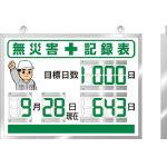 ユニット(UNIT) デジタル無災害記録表 454×604×25厚 867-18A